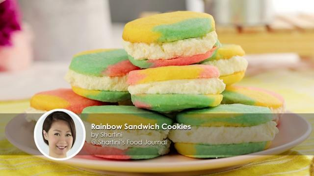 Rainbow Sandwich Cookies recipe by home cook Shartini