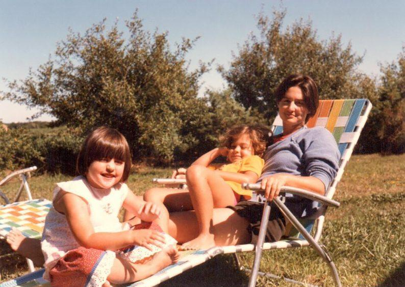 Ry Russo-Young as a child with sister Cade Russo-Young and mom Robin Young - Credit: HBO