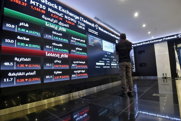 The Saudi bourse, Tadawul, is the region's largest and one of the world's top 10 share markets (AFP Photo/FAYEZ NURELDINE)