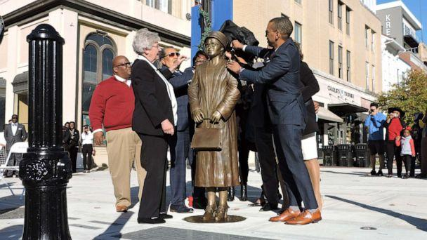 PHOTO: City and state officials unveiled a new statue of Rosa Parks on Sunday, Dec. 1, 2019, in in Montgomery, Alabama. (City of Montgomery)