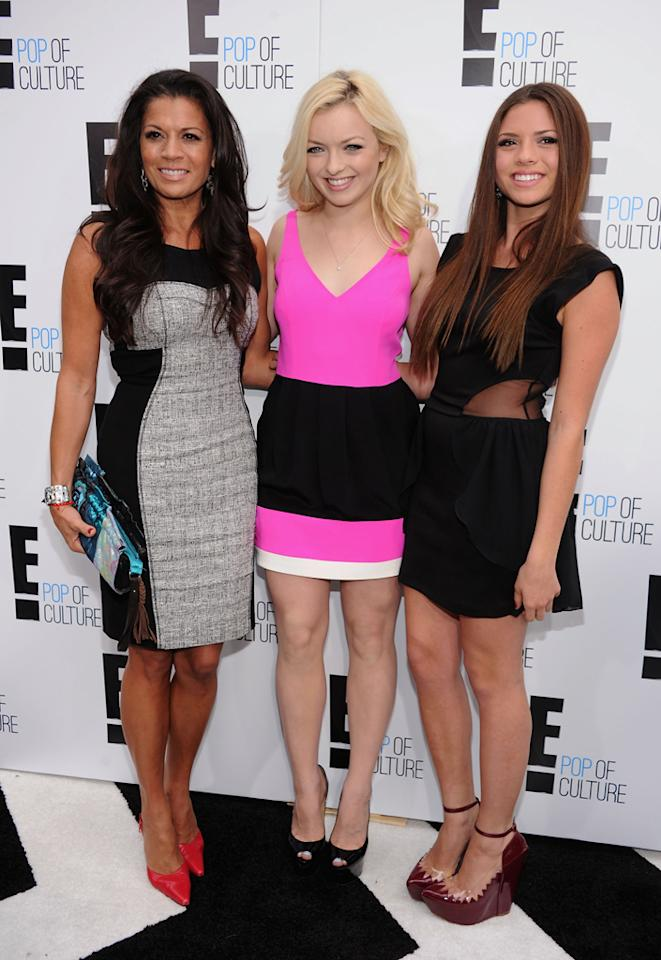 "Dina Eastwood, Morgan Eastwood, and Francesca Eastwood (""<a href=""http://tv.yahoo.com/mrs-eastwood-co/show/48387"">Mrs. Eastwood & Company</a>"") attend E!'s 2012 Upfront event at Gotham Hall on April 30, 2012 in New York City."