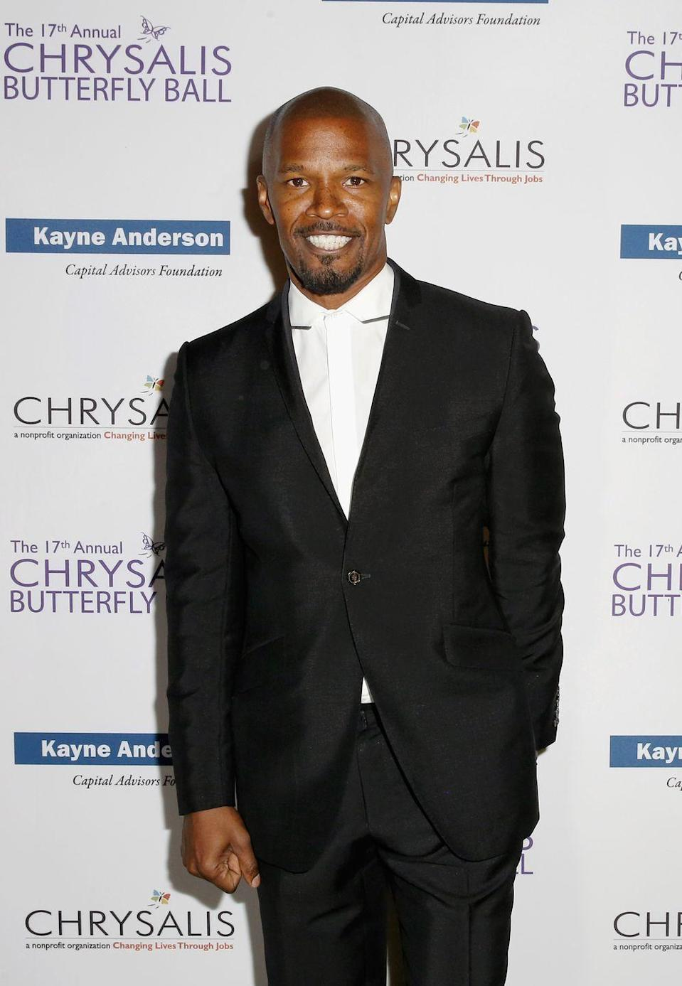 """<p>Jamie Foxx has many talents, and music is definitely one of them. Perhaps you've heard of a little Kanye West song called """"Gold Digger?"""" Well, Jamie was featured. But Jamie didn't have to piggyback off Kanye's success. Shortly after winning an Oscar for his portrayal of Ray Charles in <em>Ray</em>, Jamie released his debut album, <a href=""""https://open.spotify.com/album/045D1HbNHv4R31D9vkL8Ve?si=o3nOMDI7R7OQQKzc3IoHuQ"""" rel=""""nofollow noopener"""" target=""""_blank"""" data-ylk=""""slk:Unpredictable"""" class=""""link rapid-noclick-resp""""><em>Unpredictable</em></a>. Throughout his music career, Jamie has earned <a href=""""https://www.billboard.com/music/jamie-foxx/chart-history"""" rel=""""nofollow noopener"""" target=""""_blank"""" data-ylk=""""slk:four top 10 albums and four top 10 hits"""" class=""""link rapid-noclick-resp"""">four top 10 albums and four top 10 hits</a>.</p>"""