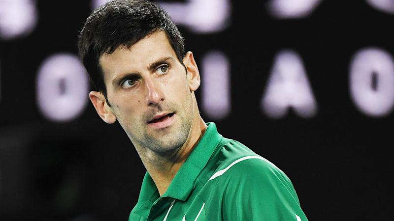 Seen here, Novak Djokovic was unhappy with the crowd during the Australian Open final.