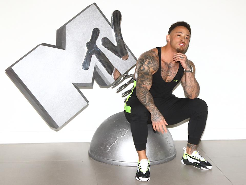 Ashley Cain from MTV�s brand new series, The Challenge: War Of The Worlds attends press launch at MTV HQ, Hawley Crescent, Camden (Photo by Keith Mayhew / SOPA Images/Sipa USA)