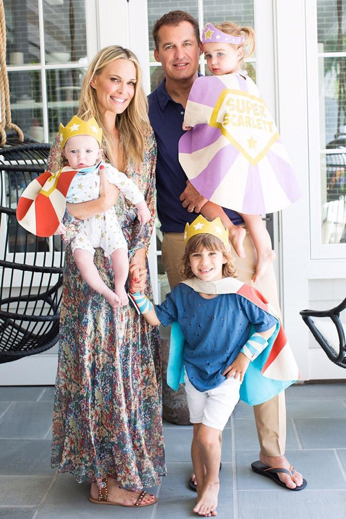 Molly Sims with her family: husband Scott Stuber, sons Grey and Brooks, and daughter Scarlett. (Photo: Courtesy of Molly Sims)