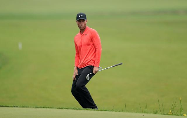 REFILE - CORRECTING ID Golf - European Tour - BMW PGA Championship - Wentworth Club, Virginia Water, Britain - May 24, 2018 Denmark's Lucas Bjerregaard reacts during the first round Action Images via Reuters/Peter Cziborra