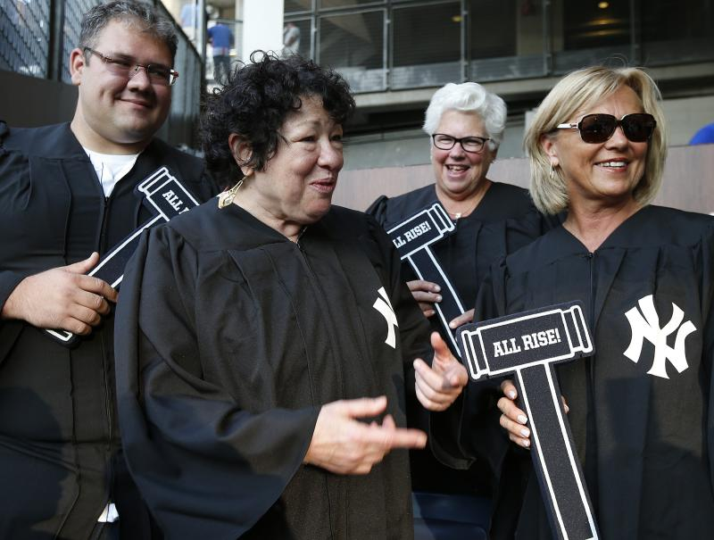 Bronx-born Supreme Court Justice Sotomayor watches Yankees from 'Judge's Chambers'