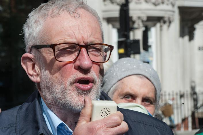 <p>The former Labour leader also hit out at his suspension from the parliamentary party</p> (Getty Images)