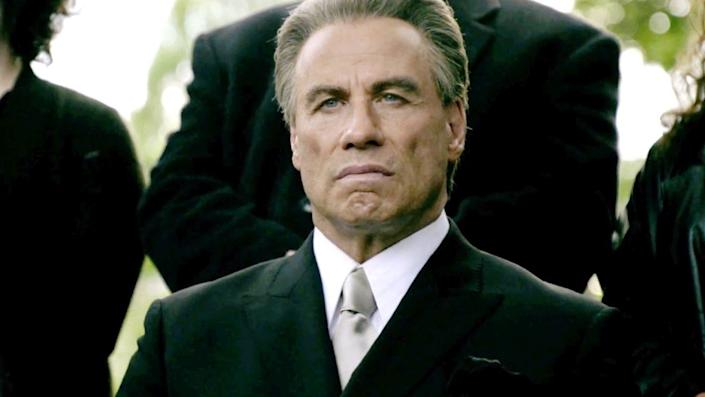 John Travolta as John Gotti in movie Gotti, worst Rotten Tomatoes movies