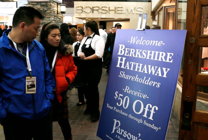 Berkshire Hathaway shareholders attends a cocktail reception hosted by Berkshire-owned Borsheim's jewelry store on the weekend of the company's annual meeting in Omaha
