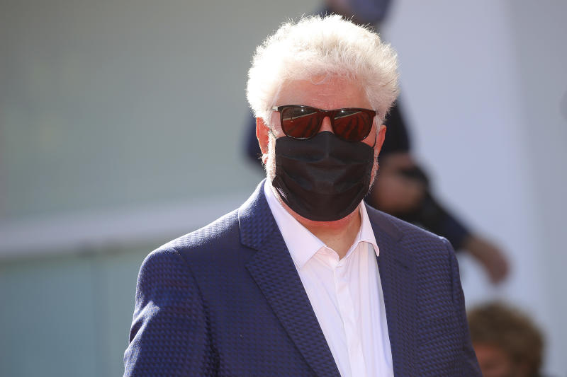 VENICE, ITALY - SEPTEMBER 03 2020: Pedro Almodovar attends the red carpet of 'The Human Voice' at the Sala Grande.- PHOTOGRAPH BY P. Lehman / Barcroft Studios / Future Publishing (Photo credit should read P. Lehman/Barcroft Media via Getty Images)