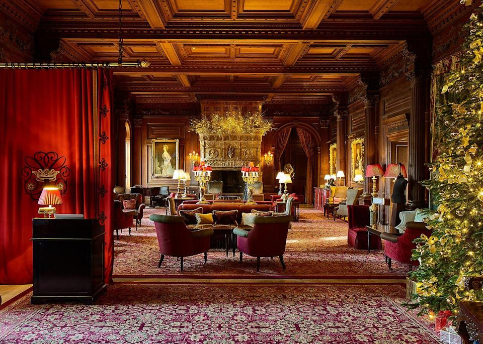 """<p>For those who like to party, you won't find a more iconic spot to spent Christmas than <a href=""""https://www.booking.com/hotel/gb/cliveden-taplow.en-gb.html?aid=2070929&label=christmas-hotels"""" rel=""""nofollow noopener"""" target=""""_blank"""" data-ylk=""""slk:Cliveden House"""" class=""""link rapid-noclick-resp"""">Cliveden House</a>. Renowned for its infamous parties, this luxury hotel offers all the goods: the grand National Trust setting and the chance to experience the high life. At Christmas, the five-star royally-renowned Italianate mansion, nestled in 376 acres of formal gardens and woodland, hosts a festive house party, with gourmet breakfasts, lunches and dinners enjoyed throughout.</p><p><a class=""""link rapid-noclick-resp"""" href=""""https://www.booking.com/hotel/gb/cliveden-taplow.en-gb.html?aid=2070929&label=christmas-hotels"""" rel=""""nofollow noopener"""" target=""""_blank"""" data-ylk=""""slk:CHECK AVAILABILITY"""">CHECK AVAILABILITY</a></p>"""