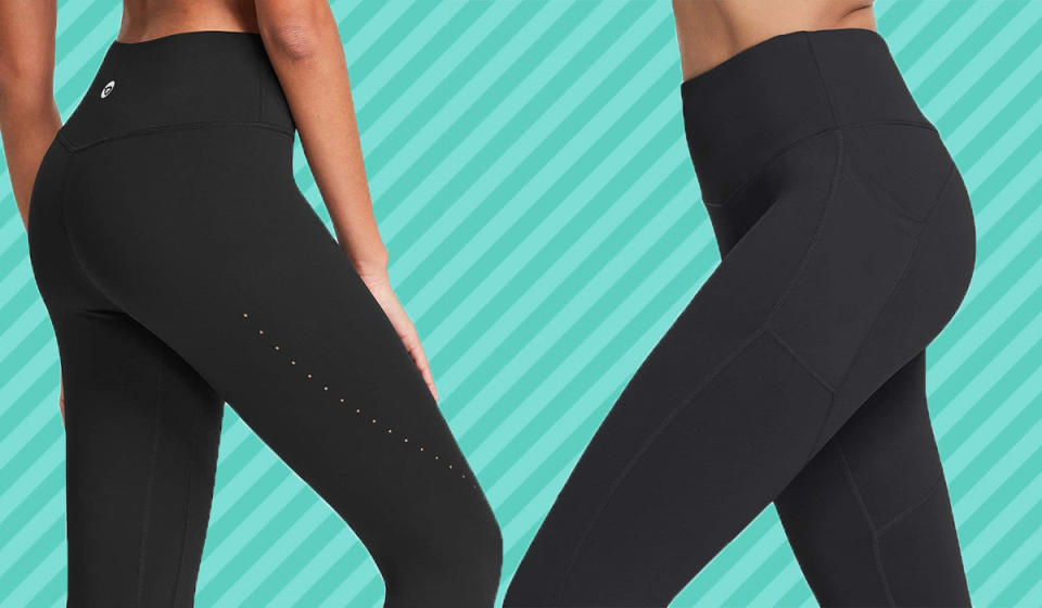 The leggings are available in 36 (!!) different colors. (Photo: Amazon)