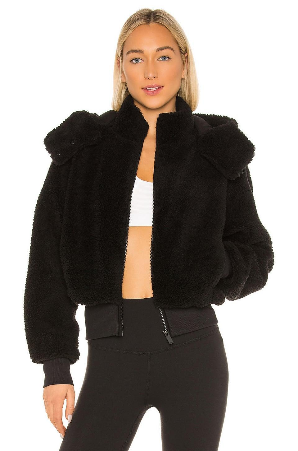 <p>Bundle up in this highly coveted <span>Alo Foxy Sherpa Jacket</span> ($188).</p>