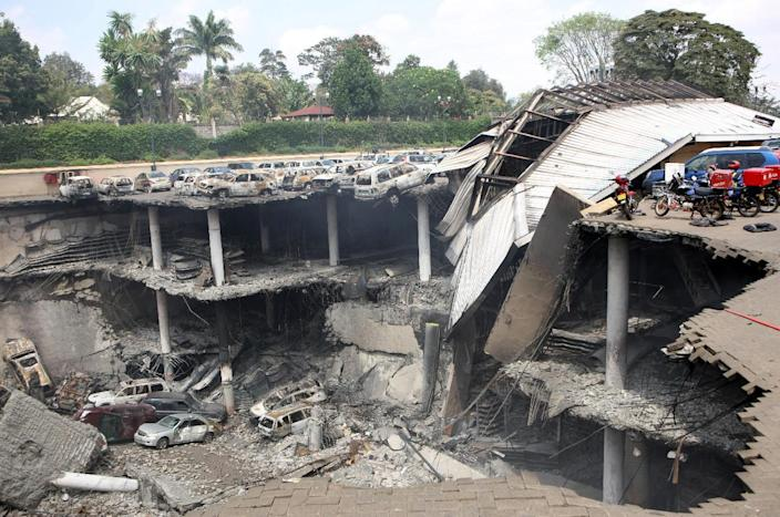 The Shebab militant group claimed responsibility for the September 2013 massacre in the Kenyan capital's Westgate mall, a four-day seige in which at least 67 people were killed (AFP Photo/)