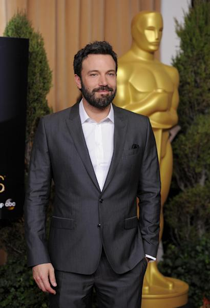 "FILE - In this Monday, Feb. 4, 2013 photo, Ben Affleck, nominated for best picture for ""Argo,"" arrives at the 85th Academy Awards Nominees Luncheon at the Beverly Hilton Hotel in Beverly Hills, Calif. Like almost every awards season, earlier honors have established clear favorites for the top prizes at Sunday's Oscars, where Ben Affleck's CIA thriller ""Argo"" is expected to take home the best-picture trophy. The 85th Academy Awards are in Los Angeles on Feb. 24. (Photo by Chris Pizzello/Invision/AP, File)"