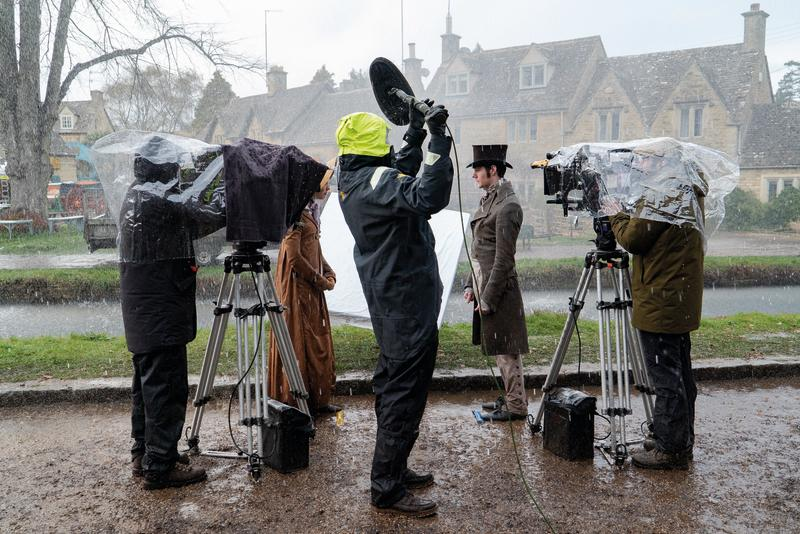 Filming in Lower Slaughter