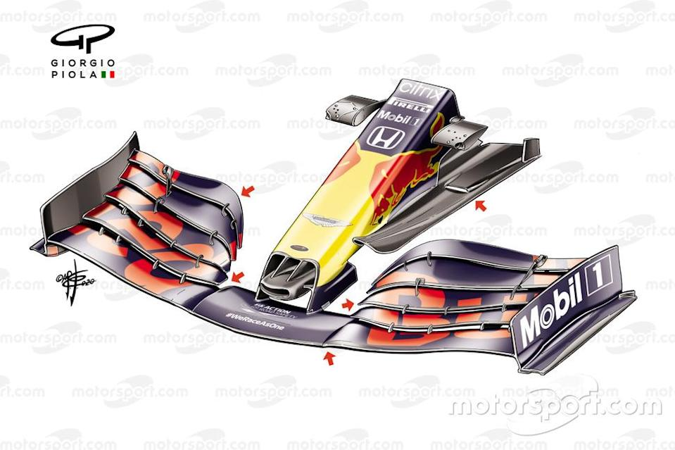 """Red Bull Racing RB16 front wing, Turkish GP<span class=""""copyright"""">Giorgio Piola</span>"""