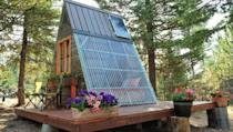 """<p>This cute 80-square-foot guest cabin was built in just three weeks for $700.<br></p><p><a class=""""link rapid-noclick-resp"""" href=""""https://relaxshacks.myshopify.com/collections/frontpage/products/deek-diedricksens-transforming-a-frame-getaway-cabin"""" rel=""""nofollow noopener"""" target=""""_blank"""" data-ylk=""""slk:SHOP NOW"""">SHOP NOW</a> <a class=""""link rapid-noclick-resp"""" href=""""https://www.countryliving.com/home-design/house-tours/a45124/tiny-a-frame-home/"""" rel=""""nofollow noopener"""" target=""""_blank"""" data-ylk=""""slk:SEE INSIDE"""">SEE INSIDE</a></p>"""