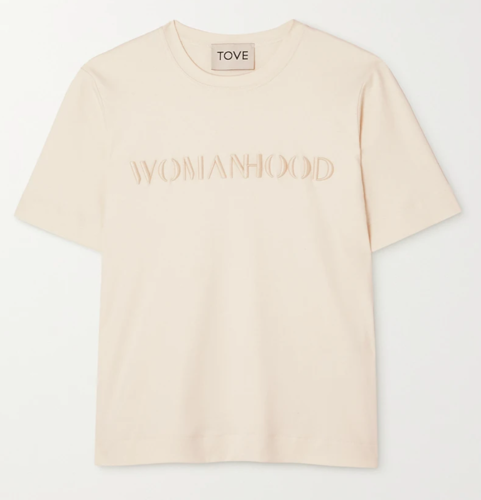 Womanhood' T-shirt from Tove from the International Women's Day 2021 edit