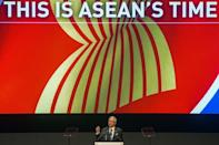 Malaysia's Prime Minister Najib Razak speaks during the opening ceremony of the 26th ASEAN summit in Kuala Lumpur on April 27, 2015