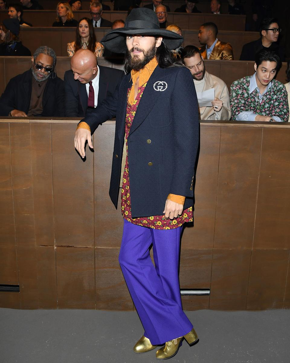 Jared Leto has perfected the art of dressing like Jared Leto.
