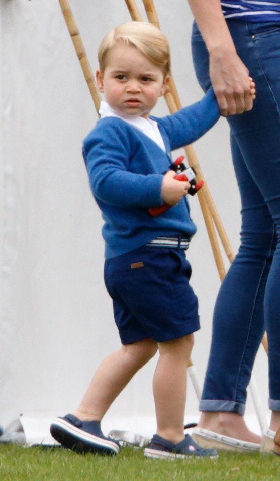 <p>Prince George attends the Gigaset Charity Polo Match with the Duchess of Cambridge in Tetbury, England.</p>