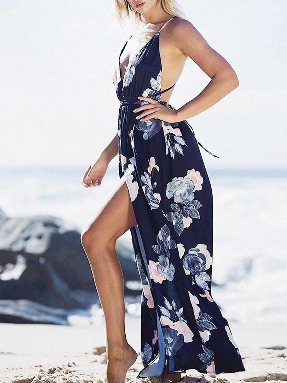 <p>Show some leg in this beach-ready <span>BerryGo Sexy Backless Dress</span> ($23-$30). </p>