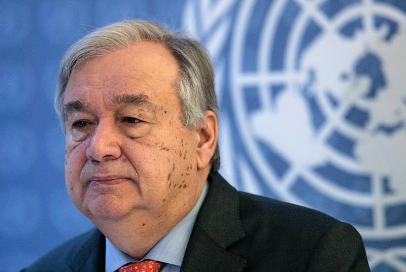UN Secretary-General Antonio Guterres has warned that the world is losing the battle against climate change (AFP Photo/Alberto RAGGIO)