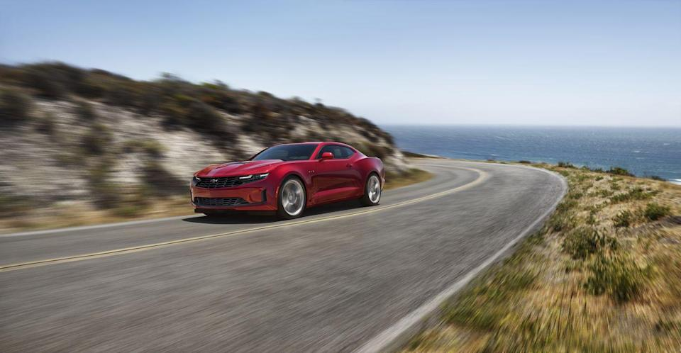 "<p>There's nothing quite like hearing the thrilling timbre of a throbbing exhaust note or feeling the gratifying feedback from a superbly tuned steering system while flying down a twisty road. Few affordable cars offer both these satisfying sensations, but the <a href=""https://www.caranddriver.com/chevrolet/camaro"" rel=""nofollow noopener"" target=""_blank"" data-ylk=""slk:2021 Chevy Camaro"" class=""link rapid-noclick-resp"">2021 Chevy Camaro</a> is one of them. It's not focused solely on being loud and going fast, however—even though it does both of those tasks very well. <a href=""https://www.caranddriver.com/chevrolet"" rel=""nofollow noopener"" target=""_blank"" data-ylk=""slk:Chevy's"" class=""link rapid-noclick-resp"">Chevy's</a> two-door pony car comes as a coupe or convertible, and it offers copious features and countless personalization options. While the <a href=""https://www.caranddriver.com/chevrolet/camaro-zl1"" rel=""nofollow noopener"" target=""_blank"" data-ylk=""slk:650-hp Camaro ZL1"" class=""link rapid-noclick-resp"">650-hp Camaro ZL1</a> is the most raucous version—and reviewed separately—every model from the base four-cylinder to the V-6 to the V-8 can be enhanced for track duty with the transformational 1LE package. Sure, the interior can feel claustrophobic and has several other quirks, but the 2021 Chevy Camaro is primarily geared towards those who love to drive. Like us.</p><p><a class=""link rapid-noclick-resp"" href=""https://www.caranddriver.com/chevrolet/camaro"" rel=""nofollow noopener"" target=""_blank"" data-ylk=""slk:Review, Pricing, and Specs"">Review, Pricing, and Specs</a></p>"