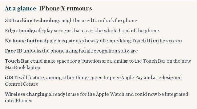 At a glance | iPhone X rumours