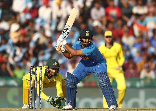 Rishabh Pant during the 4th ODI against Australia