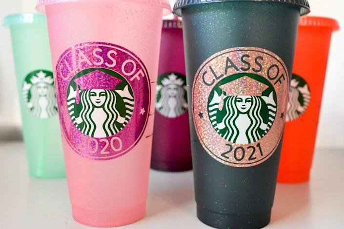 For the grad who loves Starbucks: Grad Cold Cup Tumbler