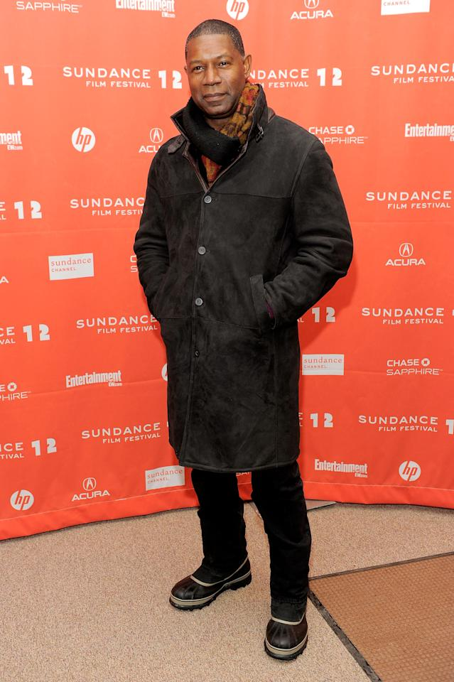 "PARK CITY, UT - JANUARY 23:  Actor Dennis Haysbert attends the ""LUV"" premiere during the 2012 Sundance Film Festival held at Eccles Center Theatre on January 23, 2012 in Park City, Utah.  (Photo by Jemal Countess/Getty Images)"