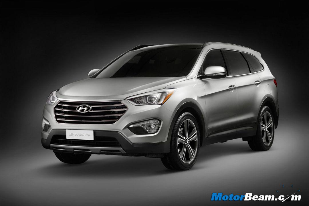 The sharp looking Santa Fe gets the Fluidic treatment. Hyundai will offer very powerful engines on this SUV.
