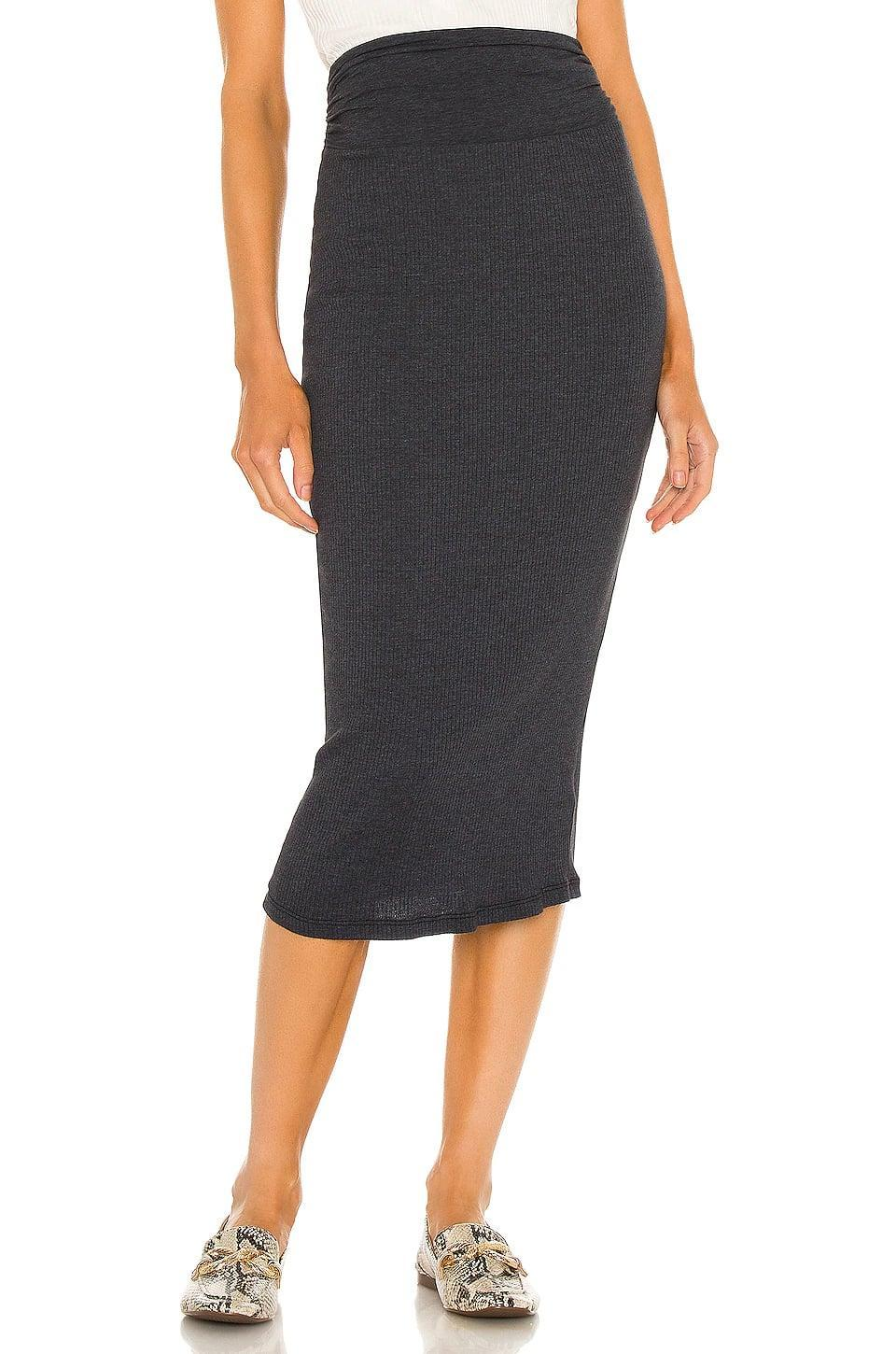 <p>This casual, comfortable <span>James Perse Rib Skirt</span> ($150) will be a staple.</p>