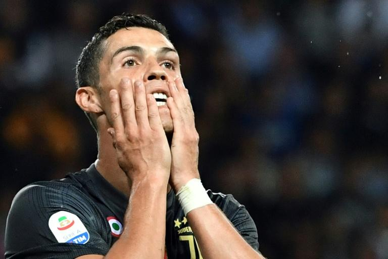 Cristiano Ronaldo missed a chance to score his first Serie A goal for Juventus