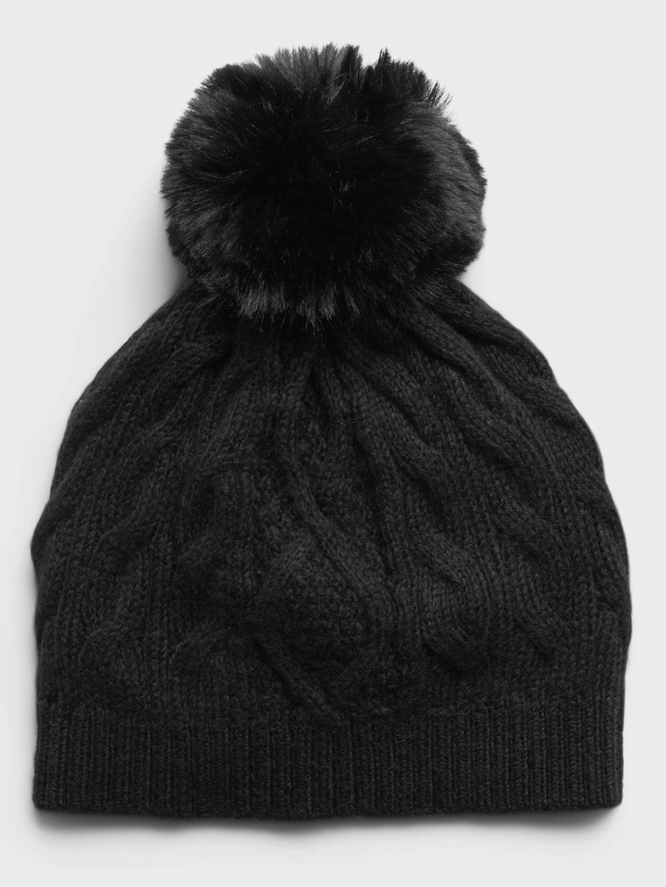 <p>The pom-pom on this <span>Cable-Knit Beanie</span> ($38, originally $48) is adorable.</p>