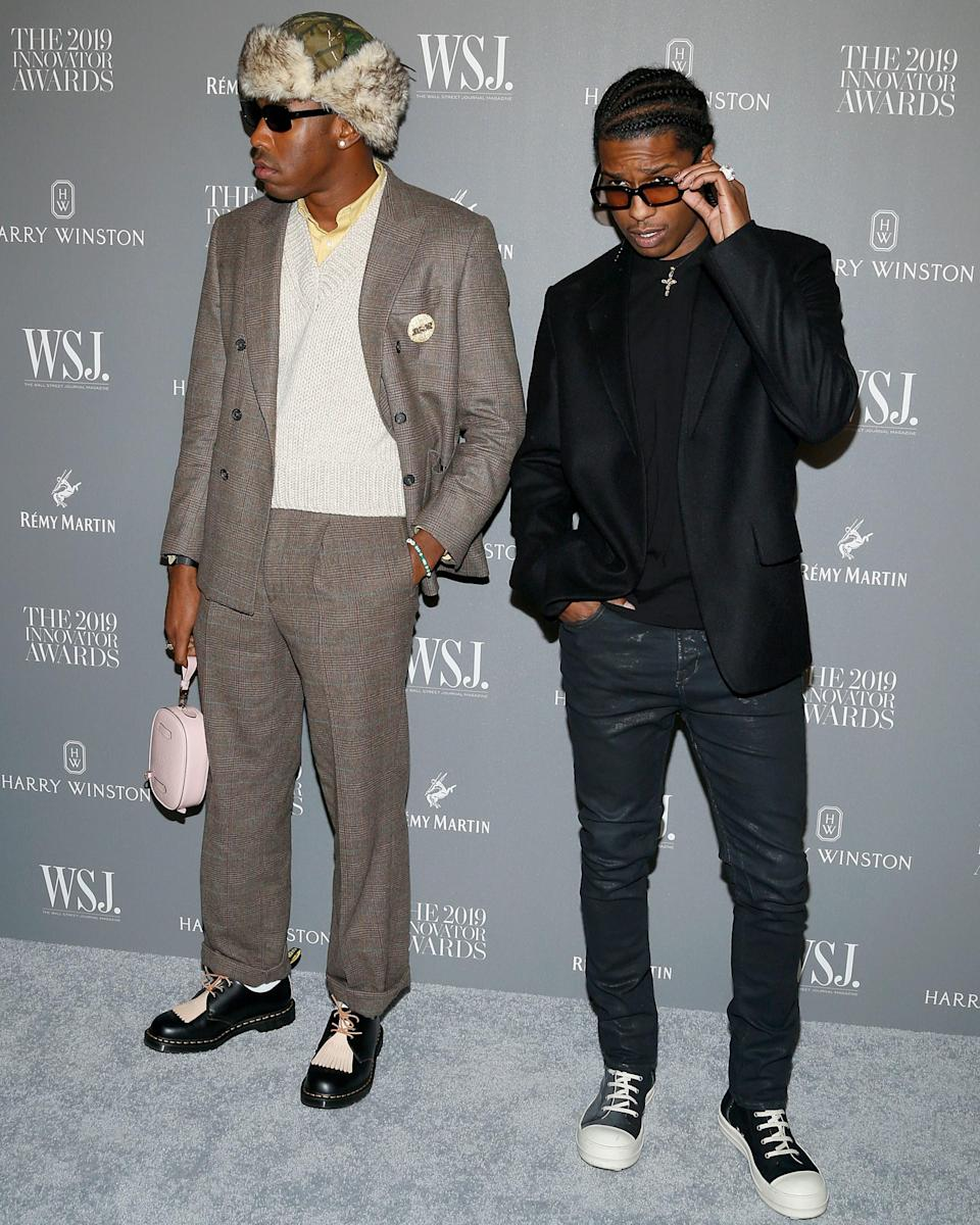 """<h1 class=""""title"""">November 7: Tyler, the Creator and A$AP Rocky</h1> <div class=""""caption""""> Name this supergroup. We're going with the the Big Fit Boys. </div> <cite class=""""credit"""">Lars Niki / Getty Images</cite>"""