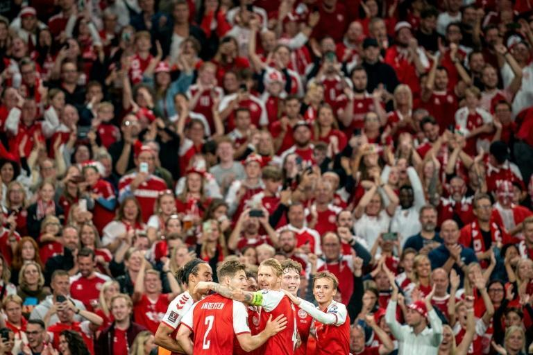 Denmark could clinch their place at the 2022 World Cup over the course of the next week (AFP/Mads Claus Rasmussen)