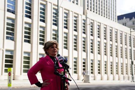 Attorney Gloria Allred addresses the media following a bail hearing for R. Kelly in the Brooklyn borough of New York City