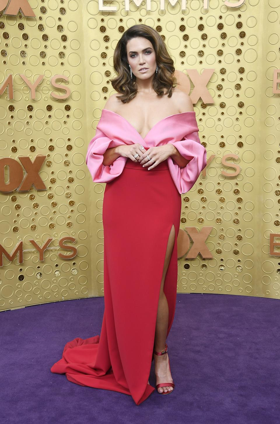 """<h1 class=""""title"""">Mandy Moore in custom Brandon Maxwell and Forevermark jewelry</h1><cite class=""""credit"""">Photo: Getty Images</cite>"""