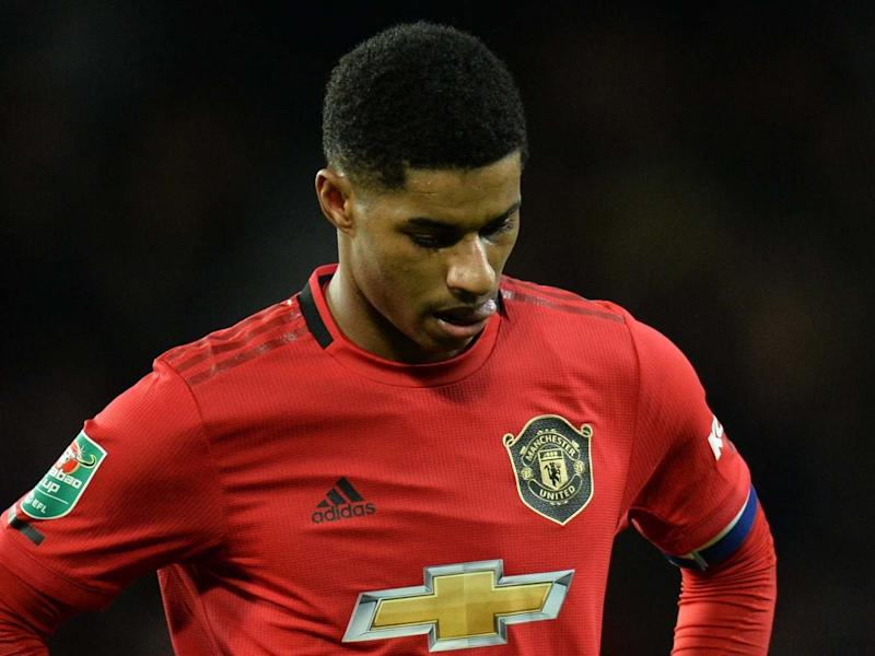 Marcus Rashford expressed his sadness at seeing a society that is 'more divided than ever before': EPA