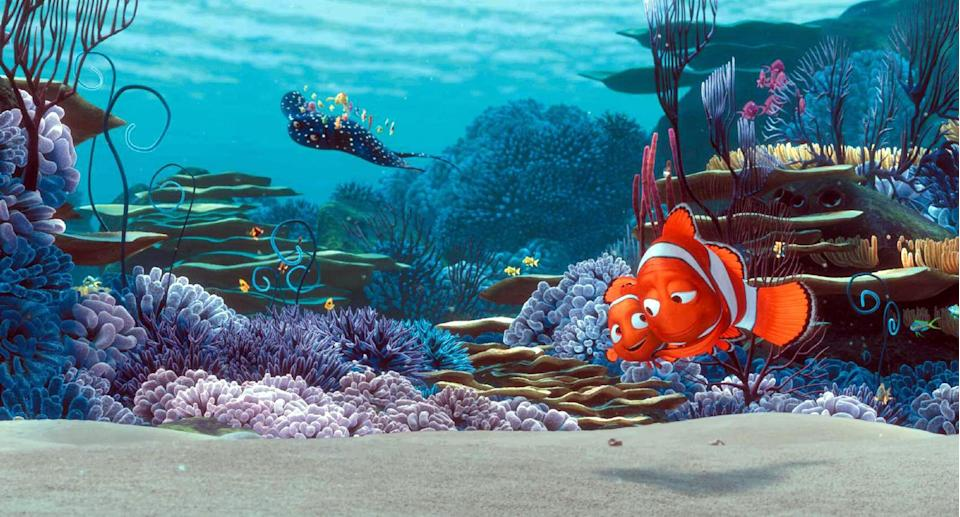 """<p>Hands down my personal favorite Disney-Pixar movie, <em>Finding Nemo</em> has it all: a compelling story, vivid animation, a cast of kooky supporting characters (Dory literally got her own movie), and a gooey emotional center about a love between parent and child that never gets corny. It's just so damn pure. </p> <p><a href=""""https://www.amazon.com/Finding-Nemo-Albert-Brooks/dp/B00AHSGNJM/"""" rel=""""nofollow noopener"""" target=""""_blank"""" data-ylk=""""slk:Available for rent on Amazon Prime Video"""" class=""""link rapid-noclick-resp""""><em>Available for rent on Amazon Prime Video</em></a></p>"""