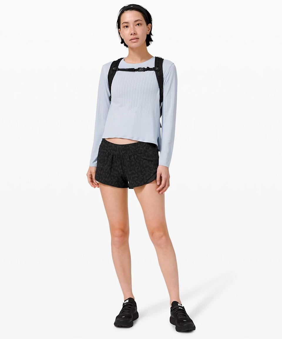 <p>These cute <span>Lululemon Hotty Hot Shorts II</span> ($58) are the perfect running shorts when temperatures rise.</p>