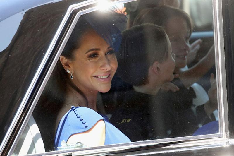 Jessica Mulroney leaves Windsor Castle after Meghan Markle's wedding to Prince Harry on Saturday