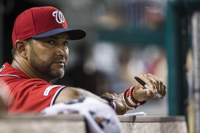Dave Martinez remains in a Washington hospital after undergoing a diagnostic heart procedure. (Getty)