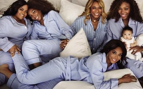 Serena with her family - Credit: VOGUE