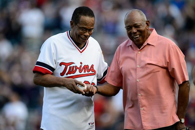 For 11 years, Rod Carew and Tony Oliva were teammates with the Twins and roommates on the road. (Getty Images)