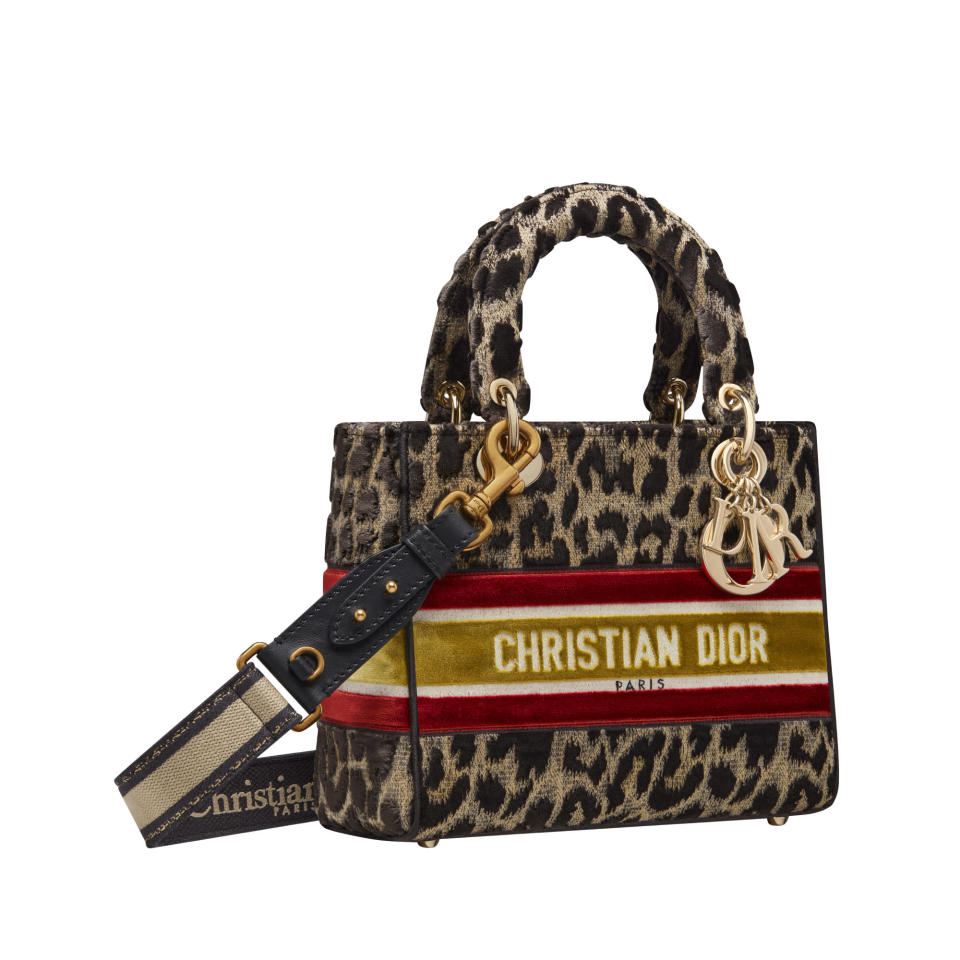 A Lady Dior bag in the Mizza print that will feature in the Harrods pop-up in August.